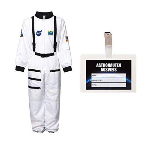 Kostümplanet Astronautenkostüm + Ausweis