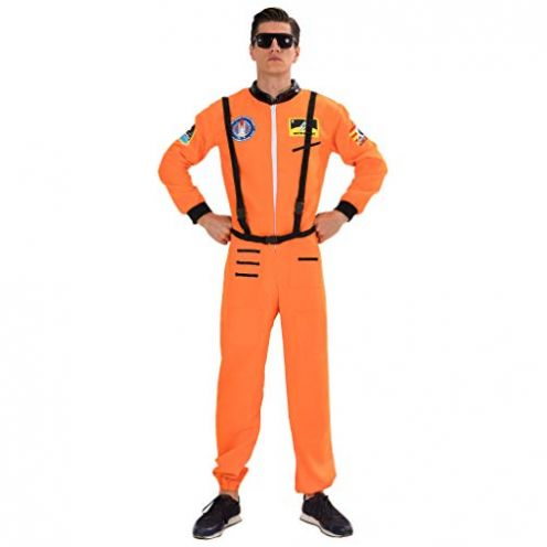 EraSpooky Herren Astronaut Raumfahrer Kostüm