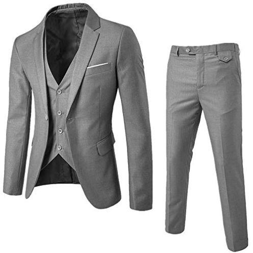 WHSHINE Mode Herren Anzug Slim Fit