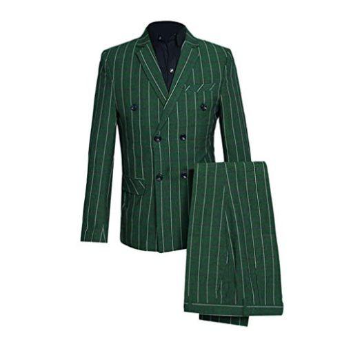 FRAUIT Herren Anzug Slim Streifen 3-Teilig