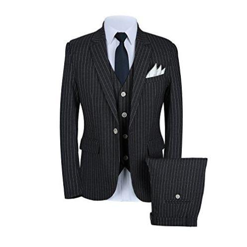 MOGU Herren-Anzug mit Nadelstreifen