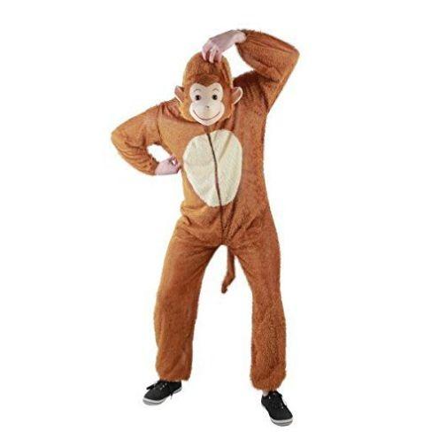 Foxxeo Affen Kostüm für Erwachsene