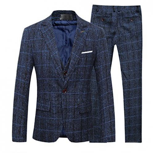 Cloudstyle Slim Fit Herrenanzug Tweed TZ50SBL1S