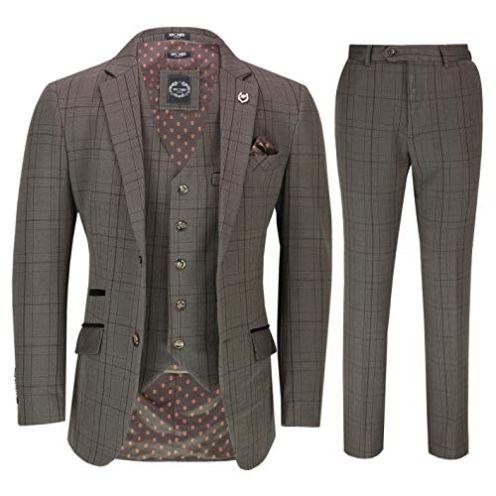Xposed Herren Anzug Set Bevan-Braun