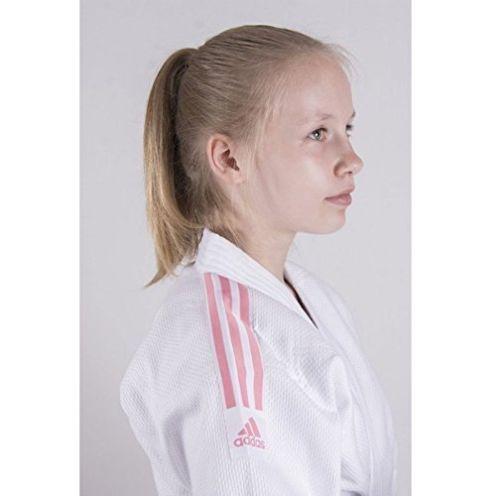 adidas J350 Club Judo Gi Stripes Pink Junior Judoanzug Mädchen