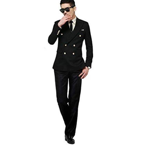 CALVINSUIT Herren Anzug Zweireiher