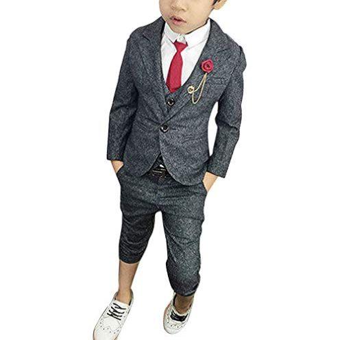 ShiFan Jungen Anzug Set Grau